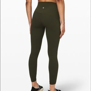 Lululemon Athletica army green leggings size 4!!!!